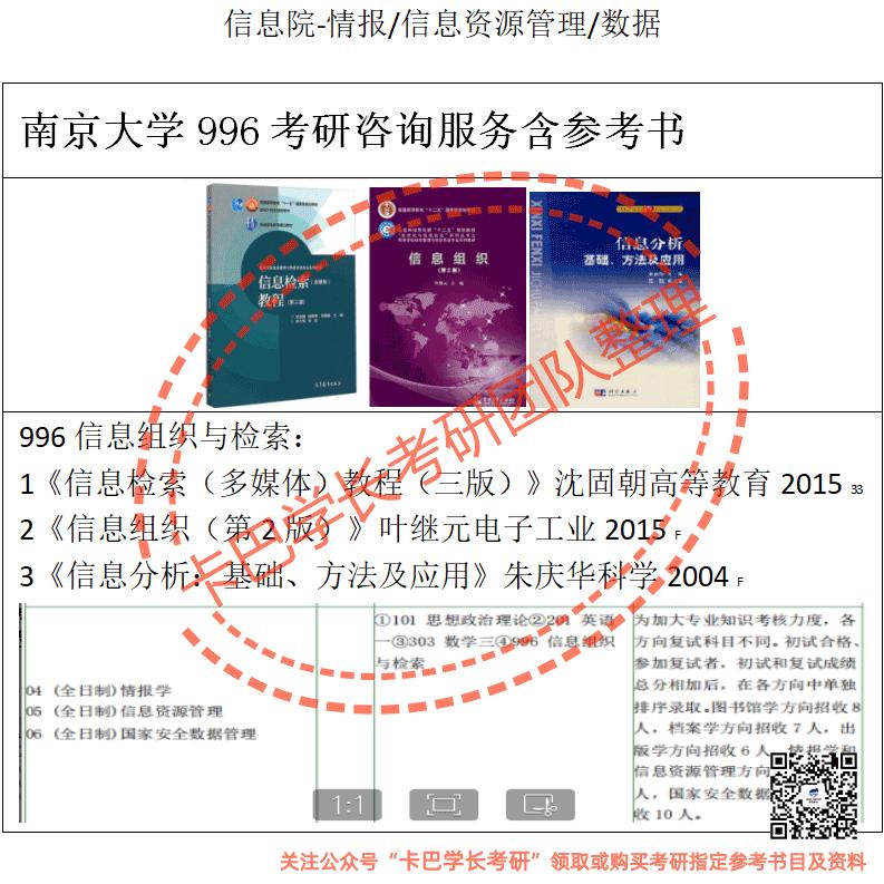 图书情报与档案管理-情报学/信息资源管理/Gong家an全数据管理2022届
