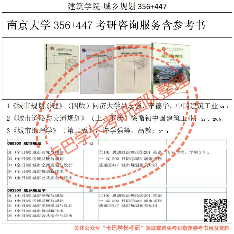 南京大学考研城乡规划学硕/城市规划专业综合考研真题资料和答案